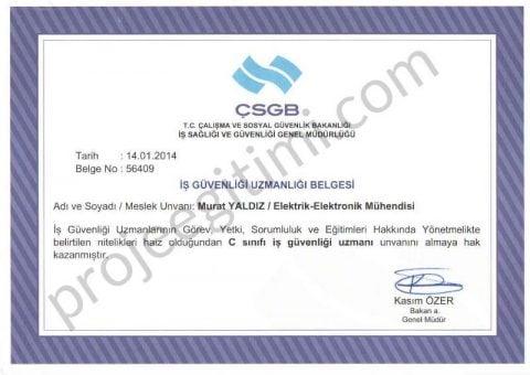 iş sağlığı güvenliği belgesi