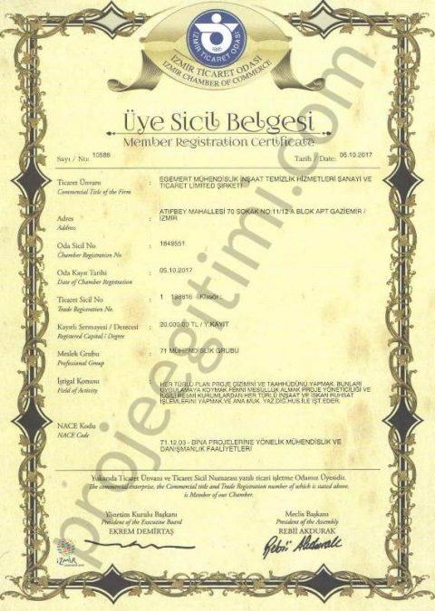 ticaret odası belgesi